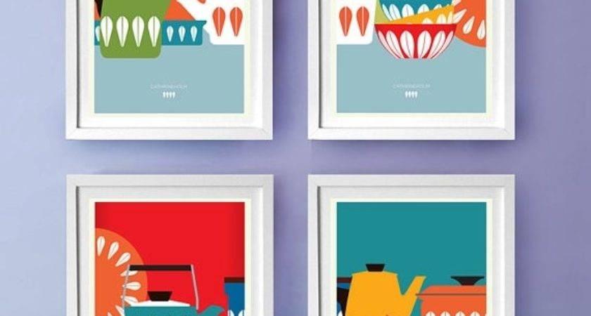 Mid Century Cathrineholm Kitchen Art Poster Prints