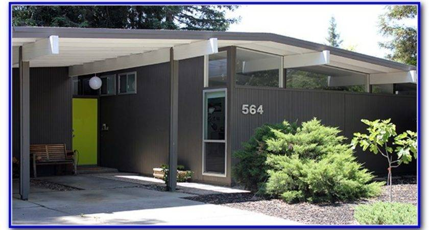 Mid Century Modern Home Exterior Paint Colors