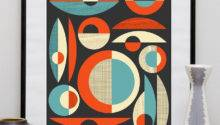 Mid Century Modern Poster Print Abstract Art