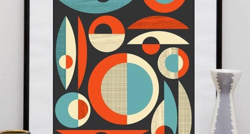 Mid Century Modern Poster Print Abstract Art