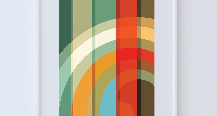 Mid Century Modern Print Abstract Art Poster Giclee