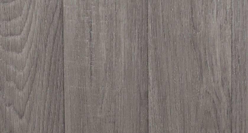 Mid Grey Wood Plank Vinyl Flooring Slip Resistant Lino
