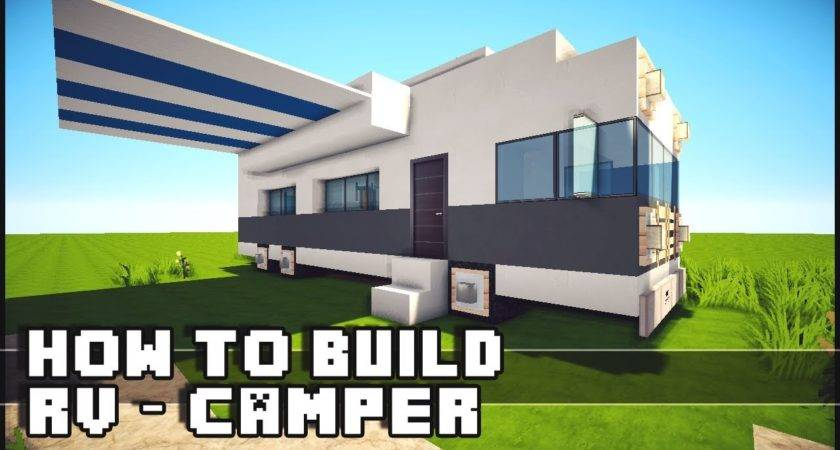 Minecraft Vehicle Tutorial Build Camper