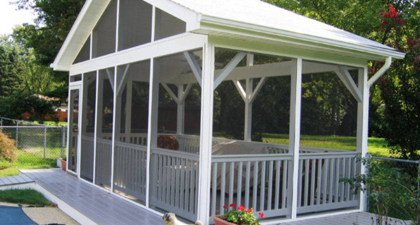 Minimalist Outdoor Freestanding Screened Porch Kits