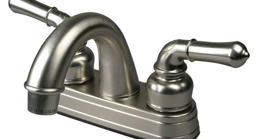 Mobile Home Bathroom Lav Bath Sink Faucet Brushed