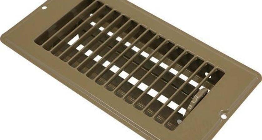 Mobile Home Brown Metal Floor Register
