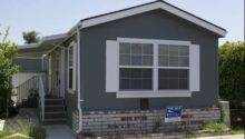 Mobile Home Dark Gray Exterior Color White Trims