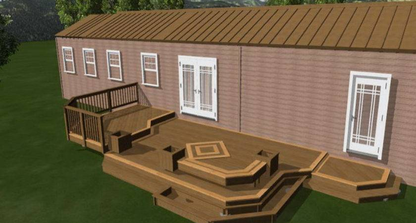 Mobile Home Deck Designs Wooden