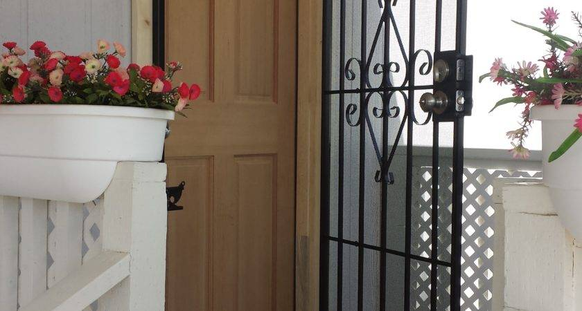 Mobile Home Exterior Back Door Diy Out Swing