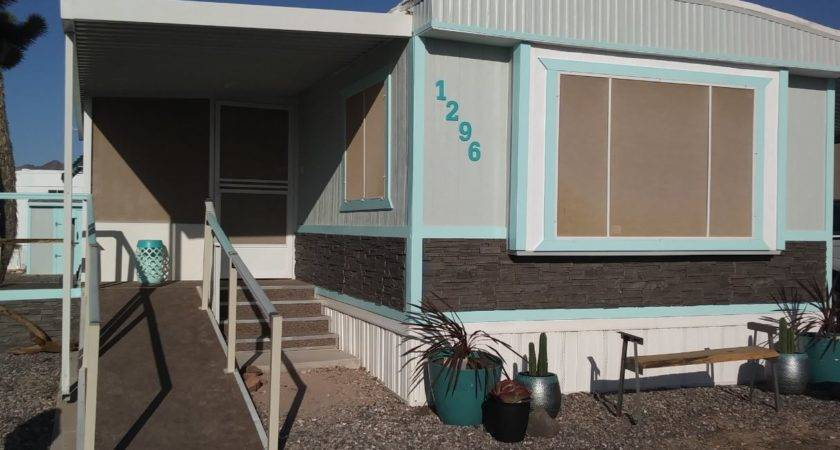 Mobile Home Exterior Siding Stone Style Creative Faux