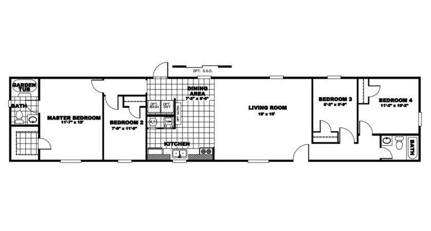 Mobile Home Floor Plans Bedroom Bathroom Single Wood