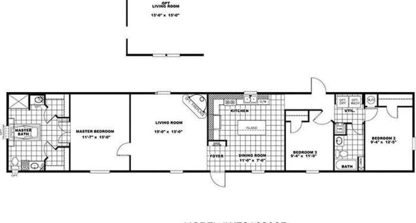 Mobile Home Floor Plans Pin Pinterest