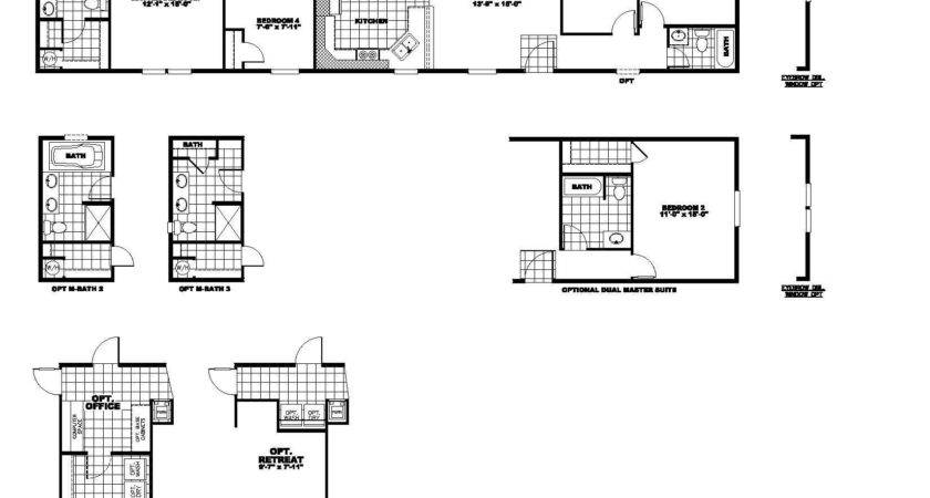 Mobile Home Floor Plans Texas Also Bedroom Single Wide