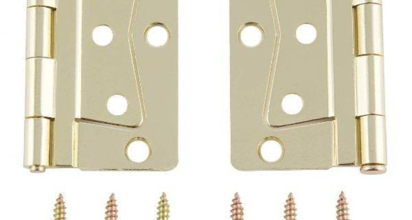 Mobile Home Interior Butterfly Brass Hinge Set