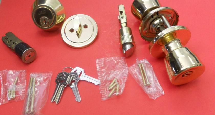 Mobile Home Lockset Door Lock Deadbolt Polished Brass