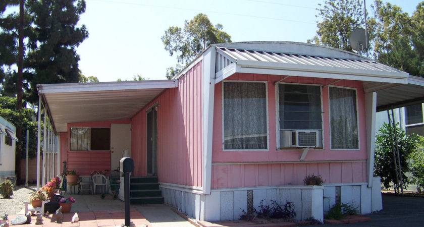 Mobile Home Pink White Flickr