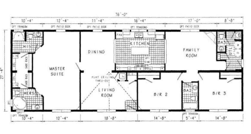 Mobile Home Sizes Design Ideas Residence Plans Floor