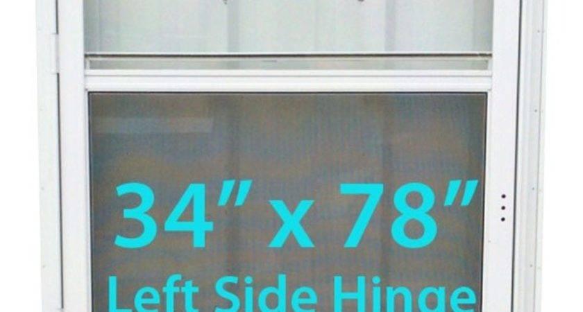 Mobile Home Standard Storm Door White Screen