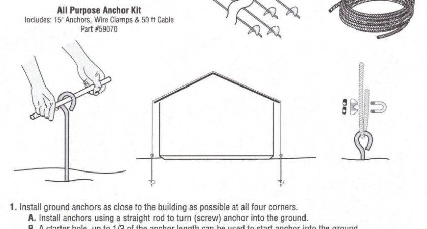 Mobile Home Supply Shed Anchor Kits