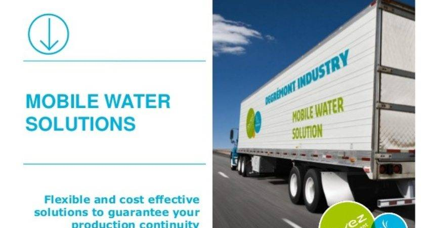 Mobile Water Solutions Presentation Degr Mont Industry