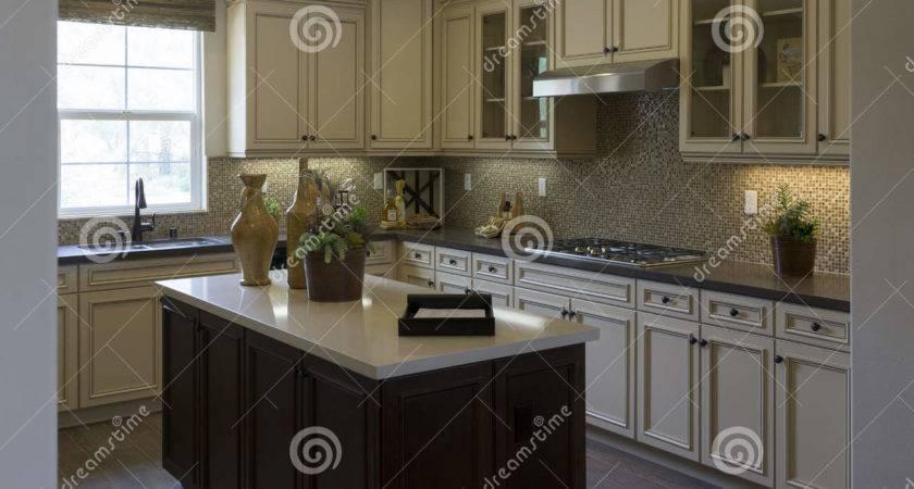 Model Home Kitchen California Editorial