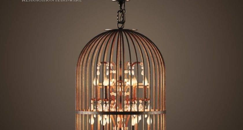 Models Ceiling Light Vintage Birdcage