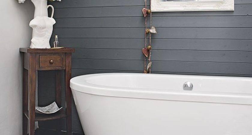 Modern Bathroom Grey Panelling Decorating
