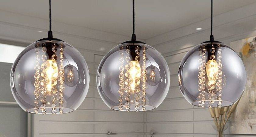Modern Bried Dia Amber Glass Ball Pendant Light