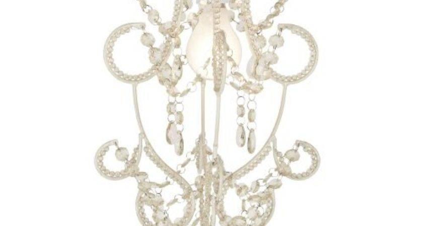 Modern Cream Shabby Chic Jewel Beaded Ceiling Pendant