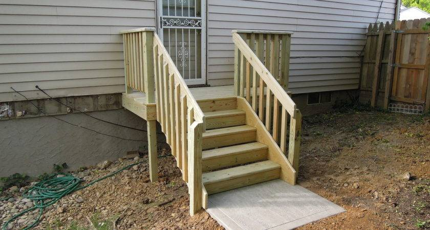 Modern Deck Stairs New Home Design Make Simple