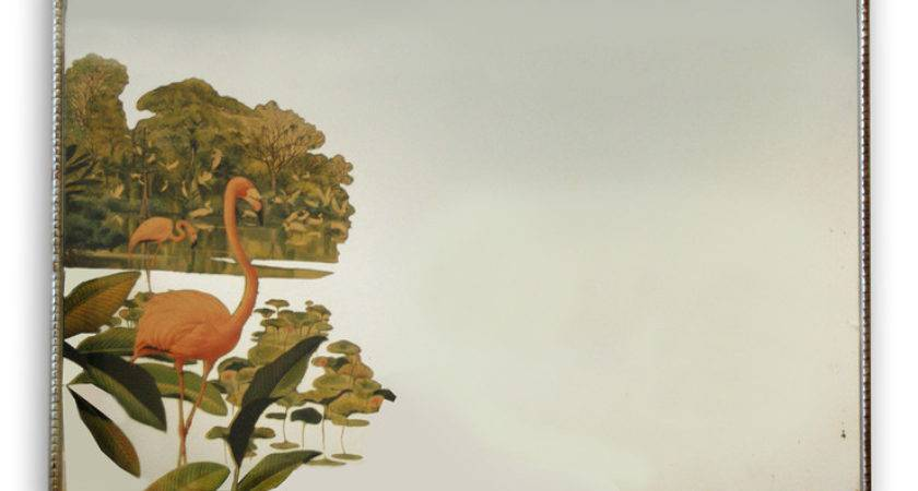 Modern Historic Flamingo Mirror Fab