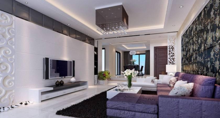 Modern Home Purple Living Room Furniture Ideas