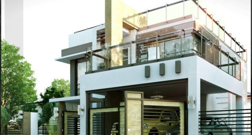 Modern House Plans Roof Deck
