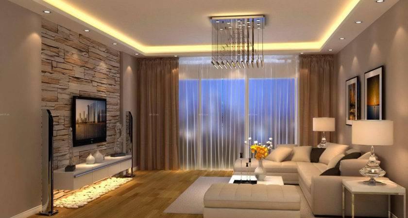 Modern Living Room Brown Design