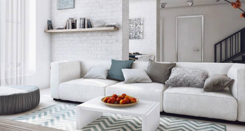 Modern White Gray Living Room Ideas Home Design Lover