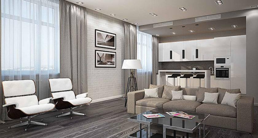 Modern White Gray Living Room Ideas