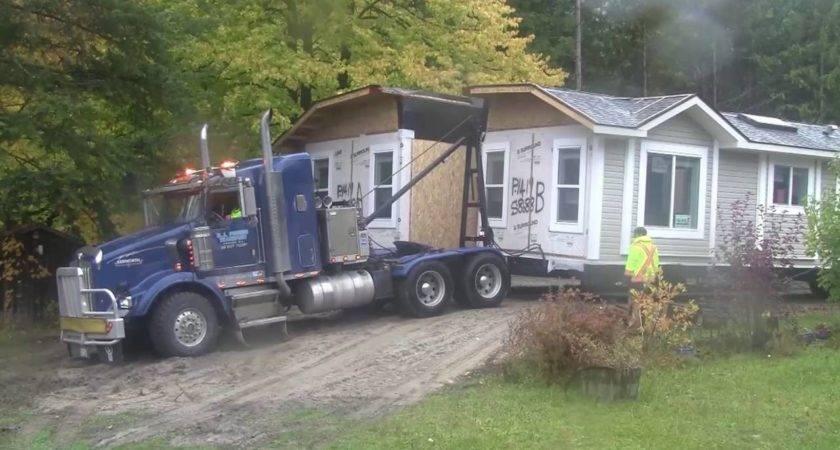 Modular Home Delivered Set Youtube