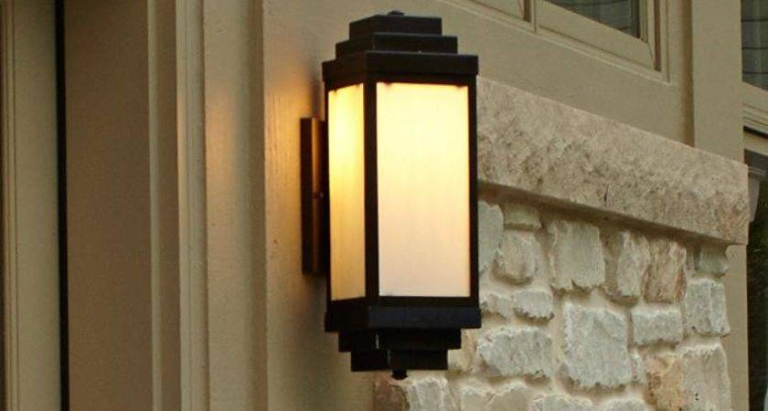 Montara Lantern Wide Flush Exterior Wall Light Brass