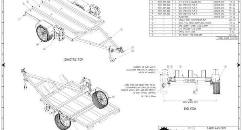 Motorbike Trailer Plans Build Your Own Fabplans