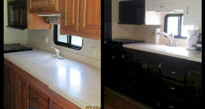 Motorhome Remodel Before After Spaces