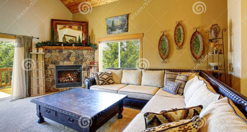 Mountain Style Decor Modern Day Living Room