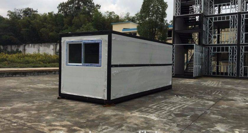 Movable Prefab Home Fold Out Shipping Container House