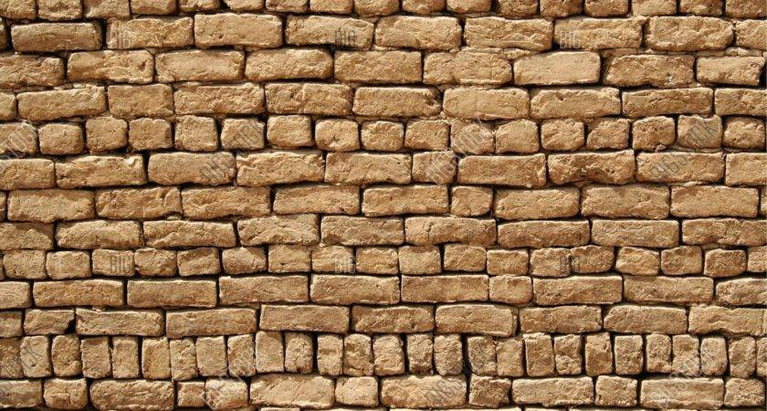 Mud Brick Wall Bigstock