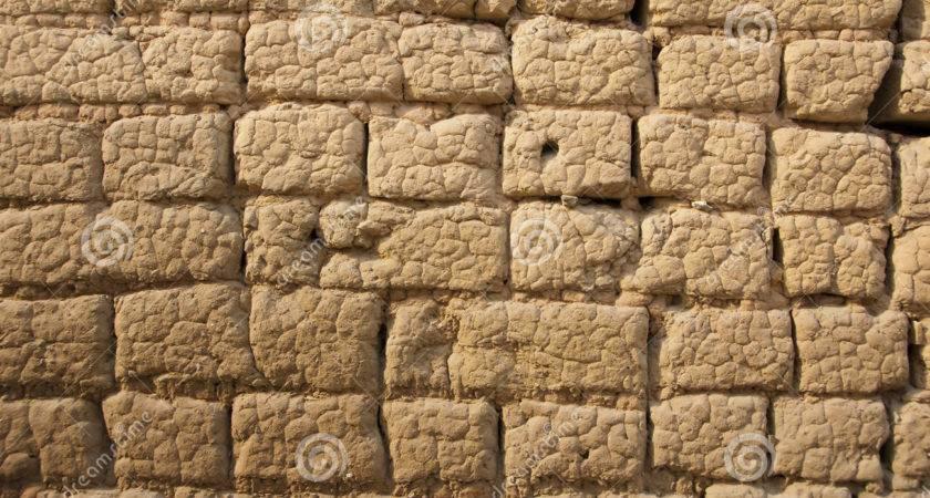 Mud Brick Wall Cement Decor Design