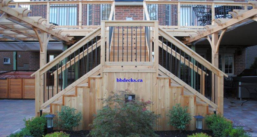 Multi Level Deck Beaver Brothers Builder Toronto