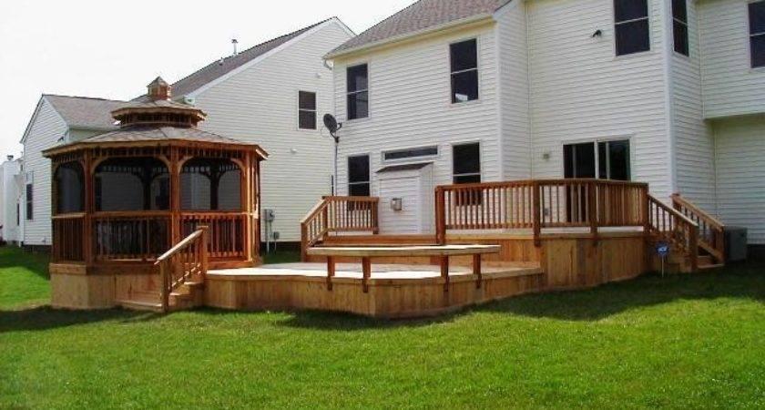 Multi Level Decks Deck Patio Combinations Mean