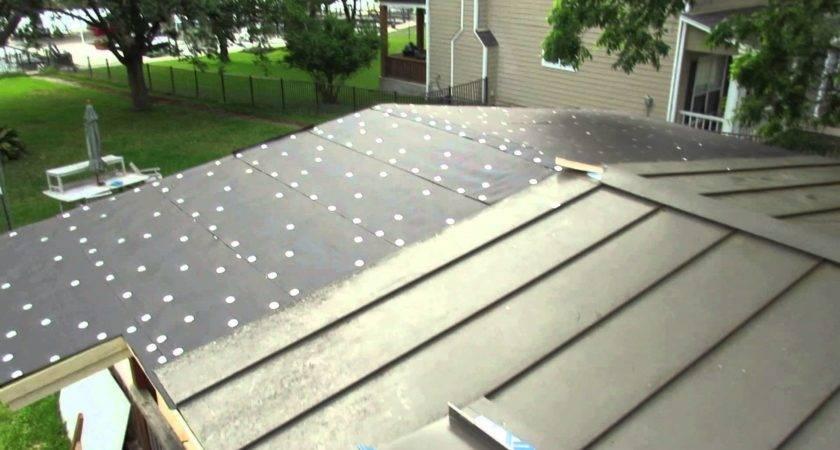 Mvi Metal Roof Installation Flat Deck