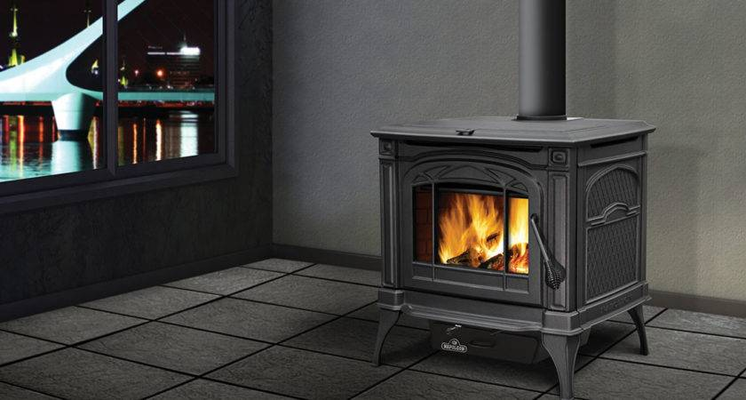 Napoleon Banff Wood Stove Metallic Black