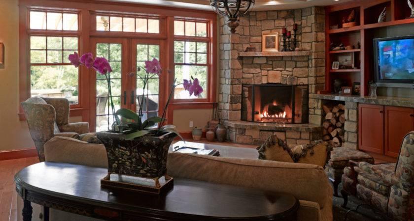 Narrow Room Designs Corner Fireplace Living Dma Homes