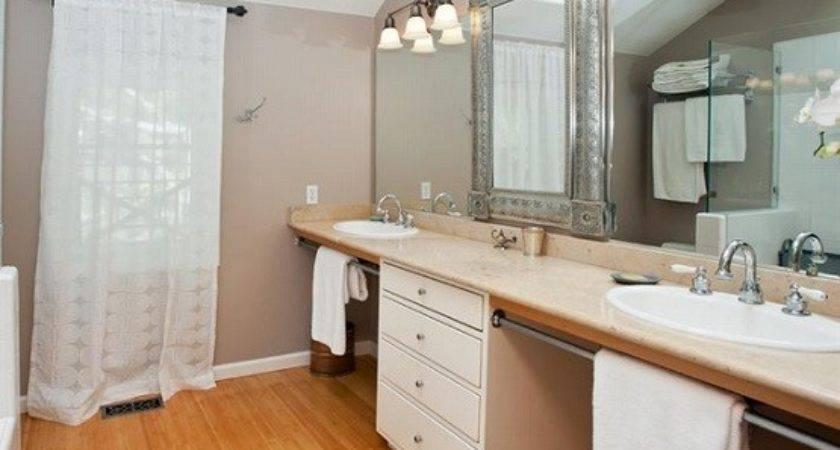 Natural Gloss Bamboo Flooring Bathroom Ideas